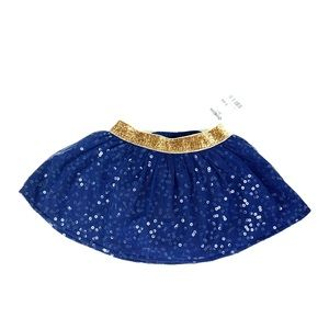 OSHKOSH B' GOSH Navy Blue Skirt with Panties.